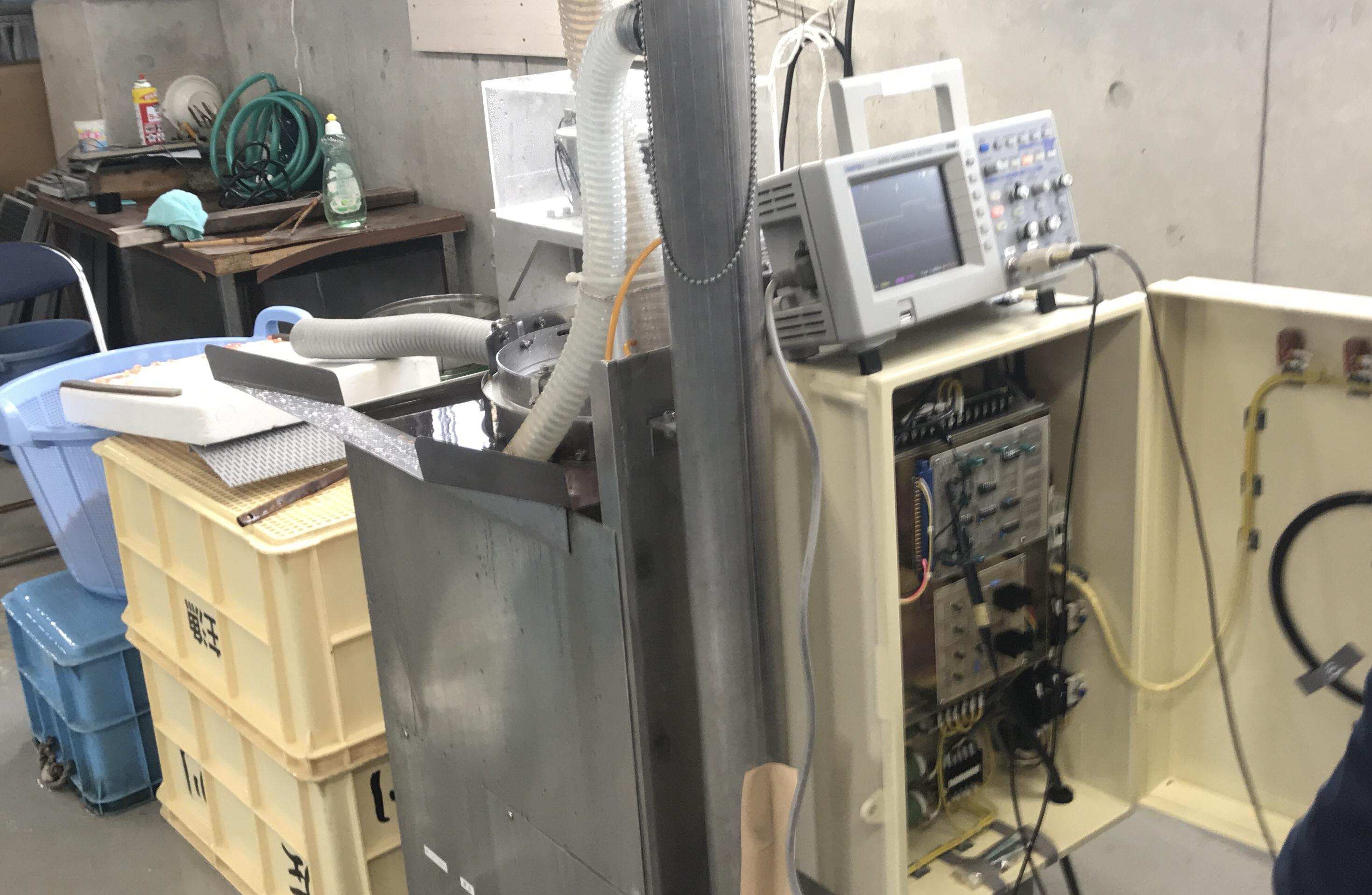 サケ検卵機修理