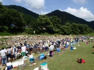 利賀村、あゆ、岩魚つかみ捕り大会