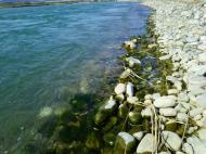 川の様子.減水