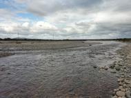 川の様子 水温低下