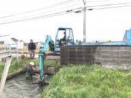 親司川の藻刈り スズキ釣りについて